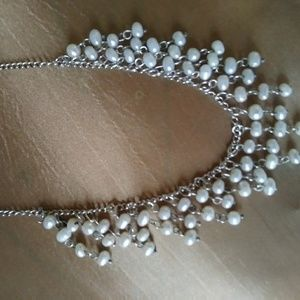 Vintage Sterling Silver Baroque Freshwater Pearl